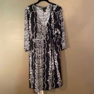 Lane Bryant V Neck Wrap Dress